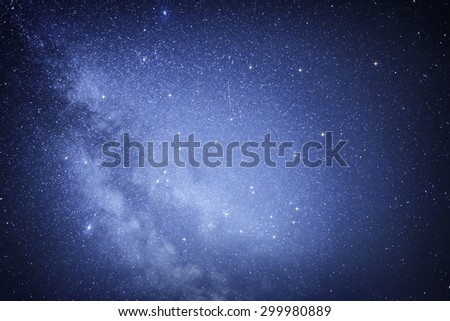 Starry sky. Milky Way galaxy on the night sky.