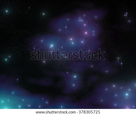 starry sky, night sky, the galaxy in the cosmos, the stars in the galaxy - stock photo