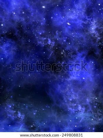 starry sky, space background  - stock photo