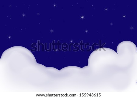 starry sky with clouds