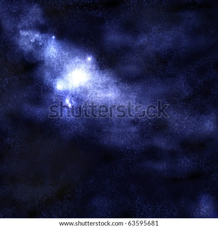 Starry space cluster background - stock photo