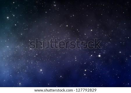 starry space scene - stock photo