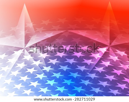 Stars America Celebration Background - Raster Version - stock photo