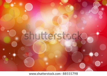 Stars and circles abstract background