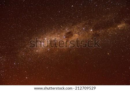 Stars and galaxy sky background  - stock photo