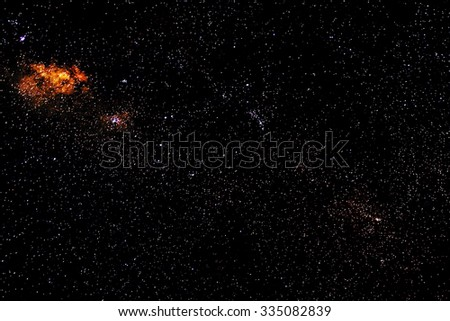 Stars and galaxy space sky starry night background  - stock photo
