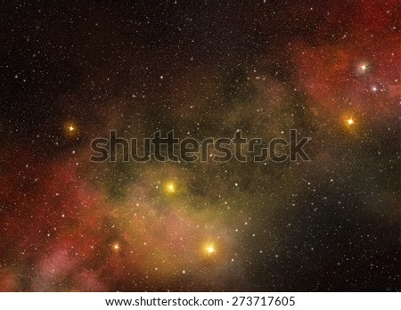 stars and heavenly bodies in deep space - stock photo
