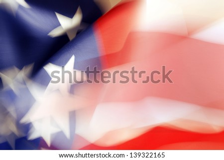 Stars and stripes American flag - stock photo