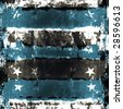 Stars And Stripes Grunge Background - stock photo