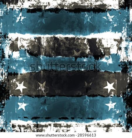 Stars And Stripes Grunge Background - stock photo