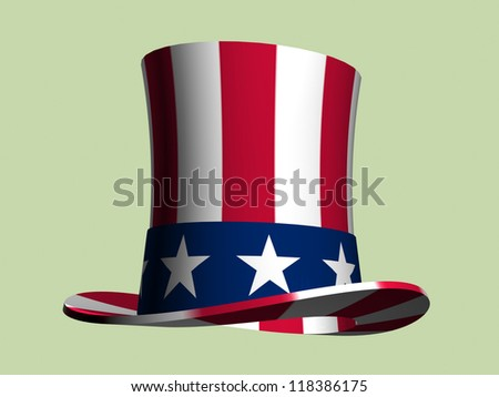 Stars and Stripes top hat