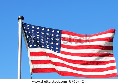 Stars and Stripes with 48 Stars, 1912-1959 - stock photo