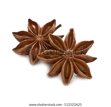Stars anise isolated on white background - stock photo