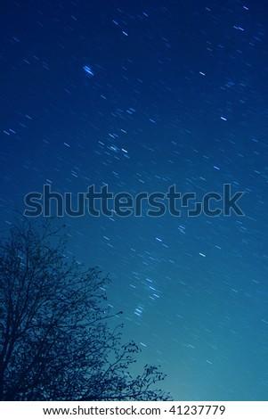Stars at night - stock photo