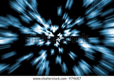 Stars at warp speed - stock photo