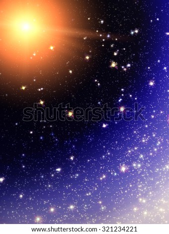 Stars background, space texture with many stars  - stock photo