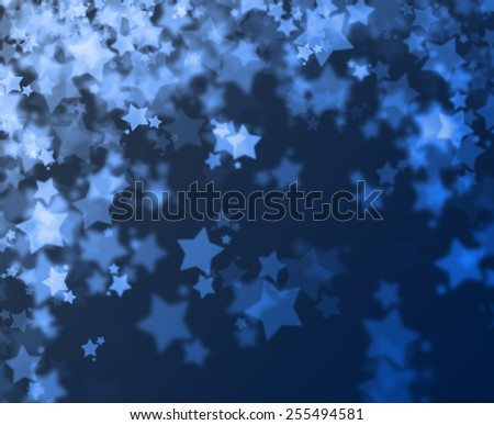 Stars bokeh abstract light background - stock photo