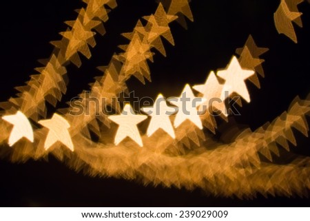 Stars Bokeh light decoration and background for event or pattern design - stock photo