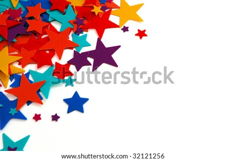 Stars confetti - stock photo