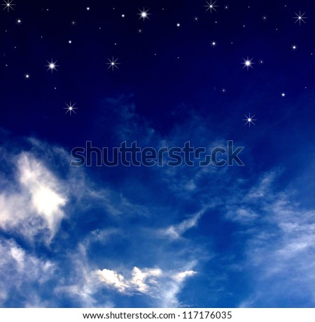 Stars from the night sky. - stock photo