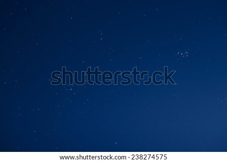 Stars in a clear night sky - stock photo