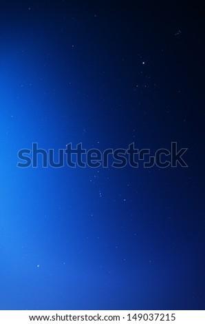Stars in blue sky - stock photo