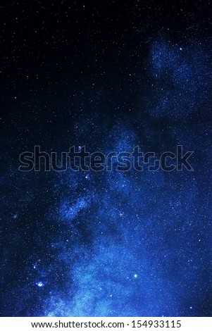 Stars in night sky - stock photo