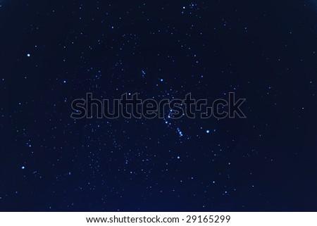 Stars in night sky - stock photo
