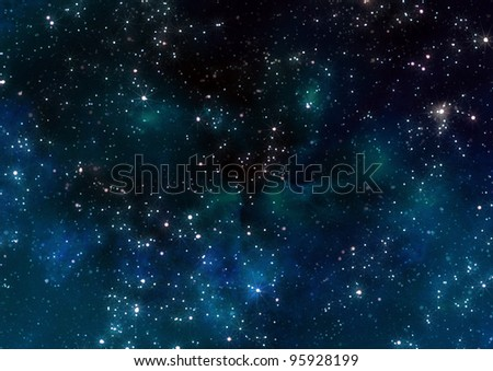 stars in outer space - stock photo
