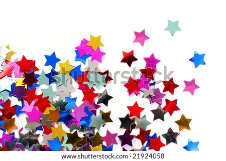 Stars in the form of confetti - stock photo