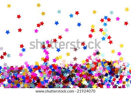 Stars in the form of confetti - stock photo