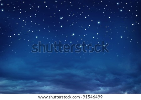 Stars in the night sky - stock photo