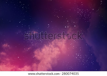 Stars in the night sky,nebula and galaxy