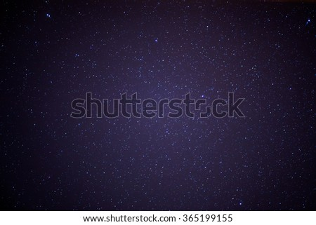 stars in the sky, motion ,unfocused