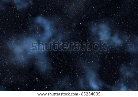 Stars in the space - stock photo