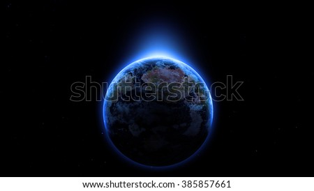 Stars like Earth. Other Planets Blue color scheme.