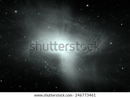 """Stars of a planet and galaxy in a free space """"Elements of this image furnished by NASA - stock photo"""