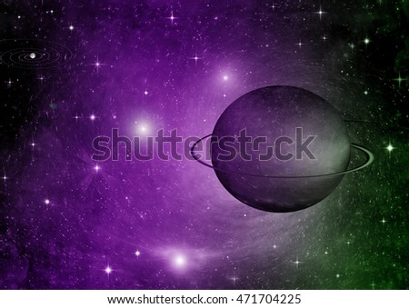 "Stars of a planet and galaxy in a free space ""Elements of this image furnished by NASA"""
