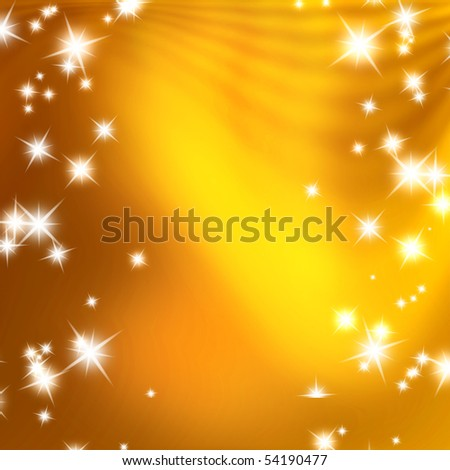 stars on a background of gold and blurry wave