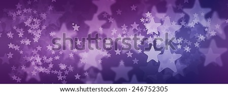 Stars on Purple Starry Background illustration for cover photo - stock photo