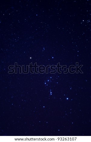 Stars on the sky at night - stock photo