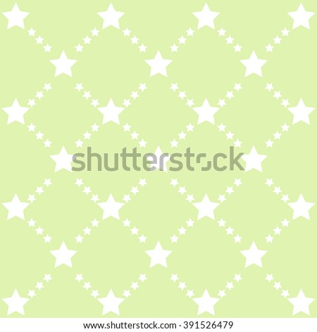 Stars pattern in green tones. vector image.