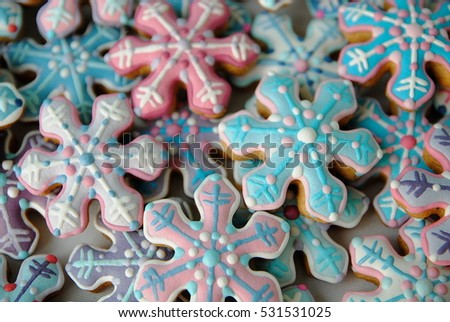 STARS , SNOWFLAKES SHAPED , CHRISTMAS CARD