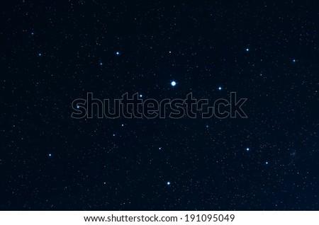 Stars. Starry sky and deep spase. Original shot at slow shutter speeds.  - stock photo