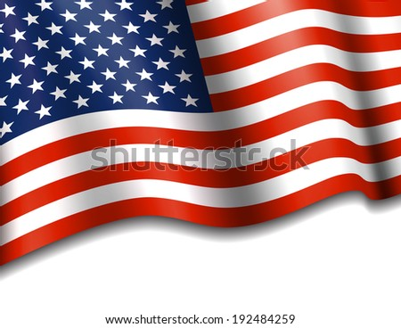 Stars & Stripes American Background - Raster Version - stock photo