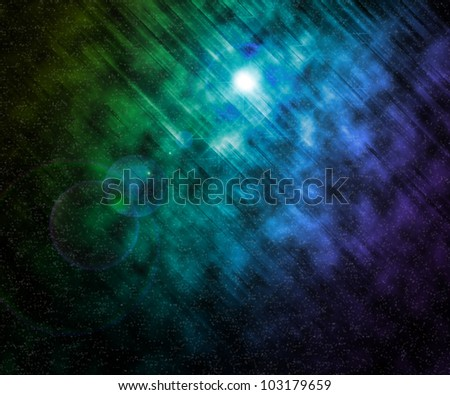 Stars Universe Background - stock photo