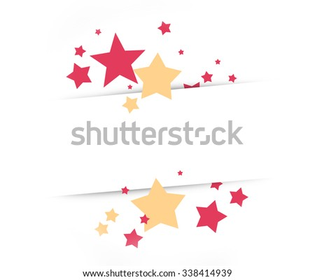 Stars White Background festive design