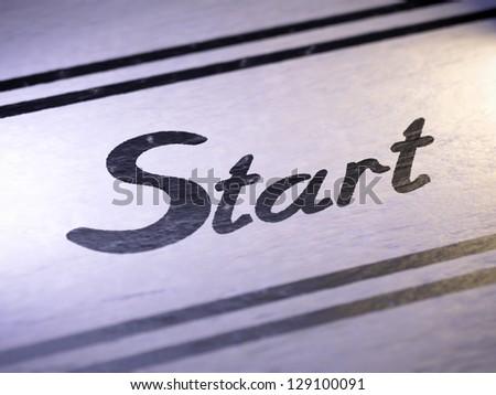 Start - stock photo