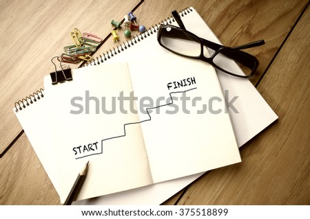 Start and Finish - stock photo