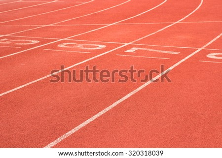 Start and Finish point of race track , Running track numbers ,